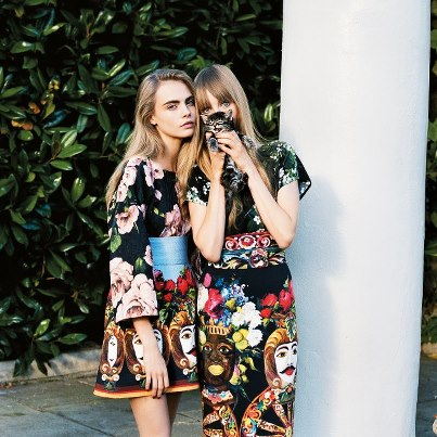 Cara Delevingne and Edie Campbell. Picture credit: Angelo Pennetta